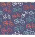 Retro hipster bicycle seamless pattern vector image vector image