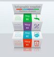 3D ladder infographic template vector image