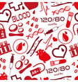 simple blood icons seamless pattern eps10 vector image