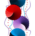 Seamless funky abstract gradient rosettes pattern vector image