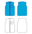 worker waistcoat with zipper and pocket vector image