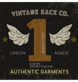 Vintage label with number one vector image