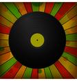 vintage vinyl record vector image