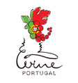 Logotype sign - wine from Portugal vector image vector image