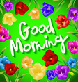 Good morning Hand lettering with hand drawn vector image