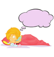 A girl dreaming with an empty callout vector image