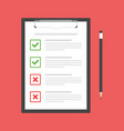 clipboard with check marks vector image