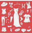 Fashion hand drawn doodle set vector image