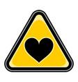 heart sign triangular sticker vector image