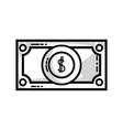 line bill cash money and economy finance vector image