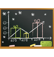 school blackboard with gifts vector image