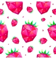 seamless pattern with faceted berries vector image