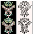 Seamless vertical pattern with Indonesian motifs vector image
