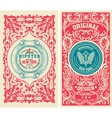 Set of Old card vector image