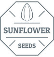 sunflower seed logo vintage style vector image