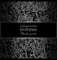 victorian background with antique luxury black and vector image