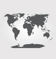 world map globe template for website vector image