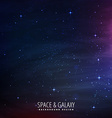 stars filled space background vector image