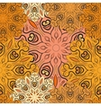 Golden seamless pattern with flowery vector image