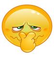 bad smell emoticon vector image vector image