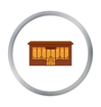 Cafe icon cartoon Single building icon from the vector image