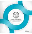 Globe Infographic Design vector image