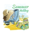 background summer with lettering textsrecliner on vector image