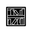 book shelf icon black sign vector image