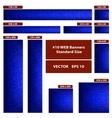 Dollars over blue WEB banners set vector image