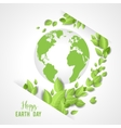 Earth day card vector image