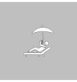 Relax computer symbol vector image