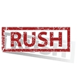 RUSH outlined stamp vector image
