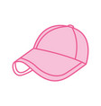 sport cap pink accessory fashion vector image