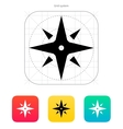 Wind rose icon Navigation sign vector image