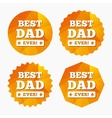 Best father ever sign icon Award symbol vector image vector image