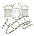 Retro photo camera with vignette vector image vector image