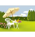 Garden relaxing vector image vector image