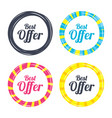 best offer sign icon sale symbol vector image vector image
