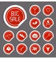 Halloween Sale Stickers vector image vector image