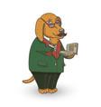 professor dog vector image