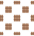 wooden decorative sectional fence fencing for the vector image