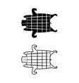 barbecued suckling pig icons and symbol vector image