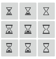 black hourglass icons set vector image