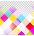 Abstract Background - Transparent Colorful Squares vector image
