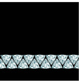 Diamond border on black background vector image