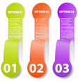 One two three - paper options vector image vector image