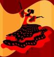 Spanish woman dancer vector image vector image