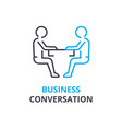 business conversation concept outline icon vector image
