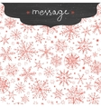 chalkboard snowflakes frame border seamless vector image
