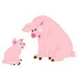 cute cartoon pigs vector image